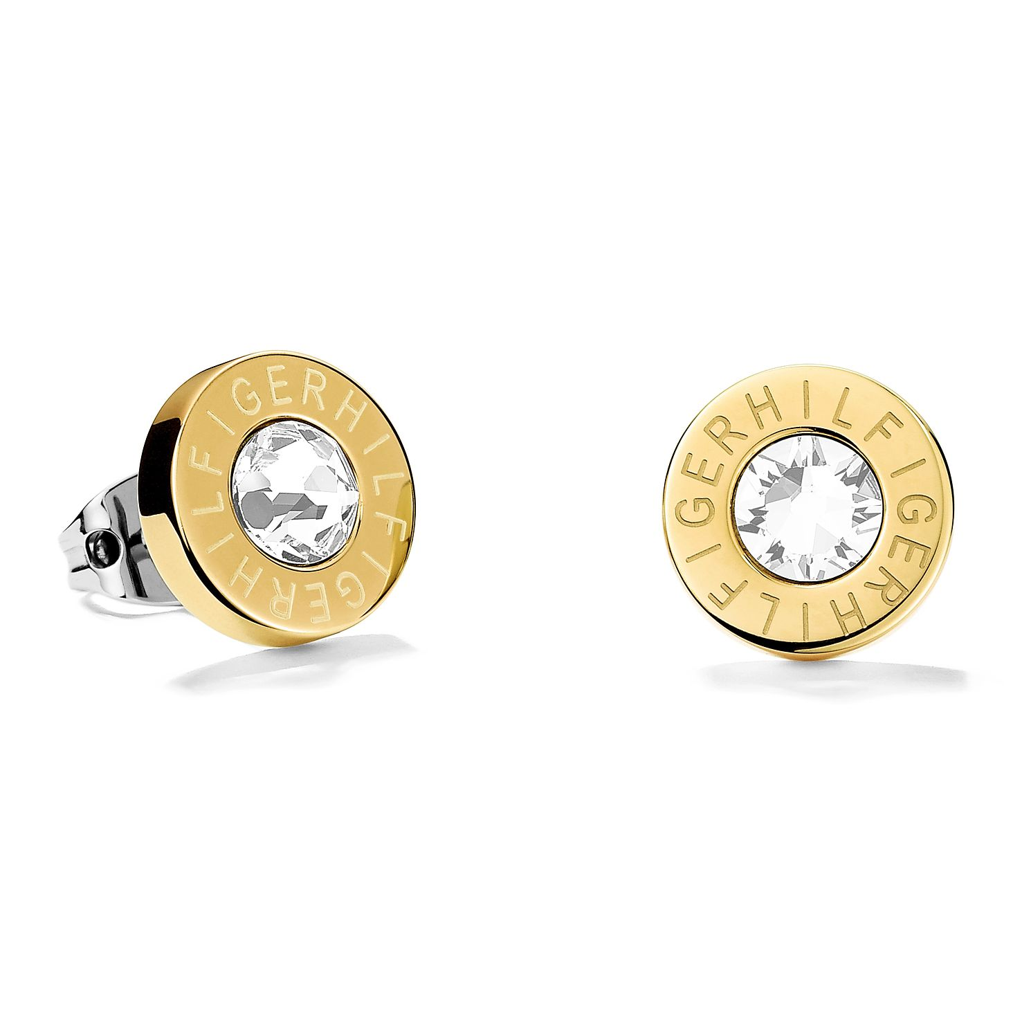 Tommy Hilfiger Ladies' Gold Plated Round Stud Earrings - Product number 2331187