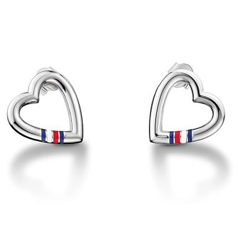 Tommy Hilfiger Ladies' Stainless Steel Heart Logo Earrings - Product number 2331209