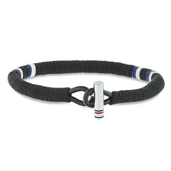 Tommy Hilfiger Men's Wrapped Black Leather Bracelet - Product number 2331381
