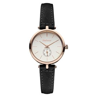 Barbour Lisle Ladies' Black Leather Strap Watch - Product number 2333546