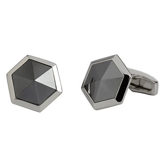 Simon Carter Heam facet steel tone cufflinks - Product number 2334143