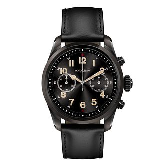 Montblanc Summit 2 Men's Black Leather Strap Smartwatch - Product number 2334976