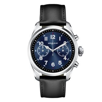 Montblanc Summit 2 Men's Black Leather Strap Watch - Product number 2334992