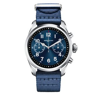 Montblanc Summit 2 Men's Blue Nylon Strap Watch - Product number 2335530