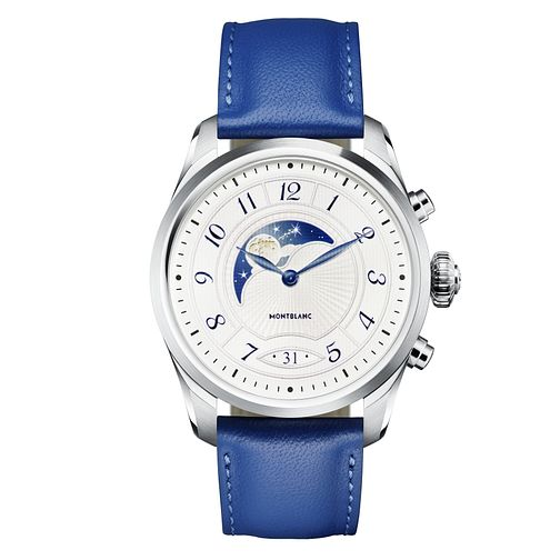 Montblanc Summit 2 Men's Blue Leather Strap Watch - Product number 2335638