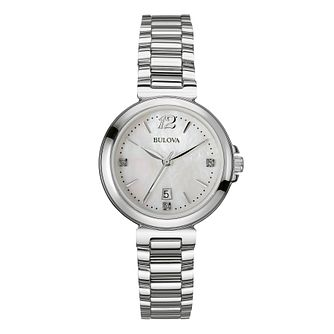 Bulova Ladies' Stainless Steel Diamond Mother Of Pearl Watch - Product number 2337304
