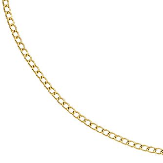 9ct Yellow Gold 20 inches Curb Chain Necklet - Product number 2338742