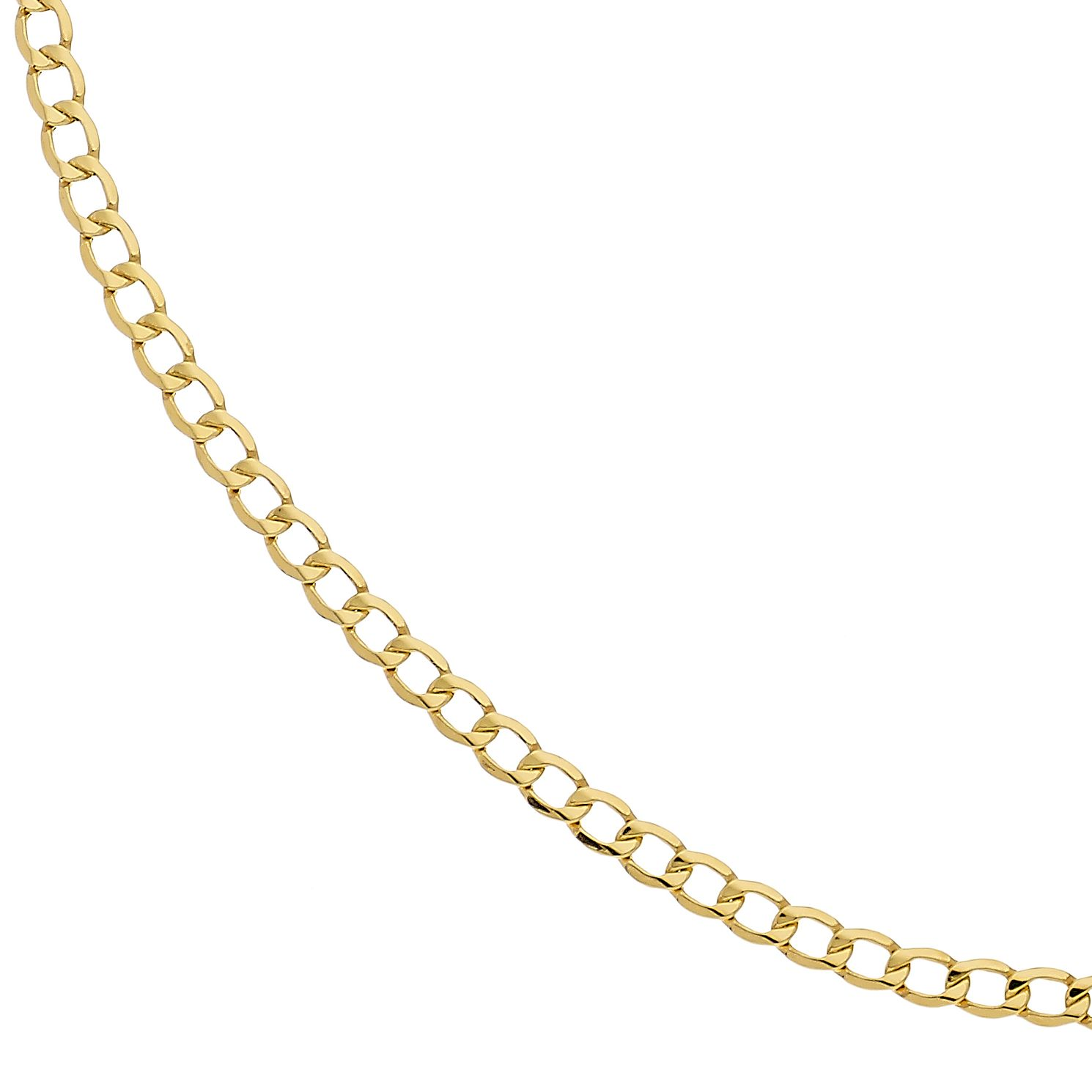 9ct Yellow Gold 22 inches Curb Chain - Product number 2338777