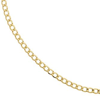 9ct Yellow Gold 22 Inch Curb Chain - Product number 2338777