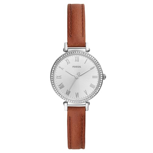 Fossil Kinsey Ladies' Brown Leather Strap Watch - Product number 2339072