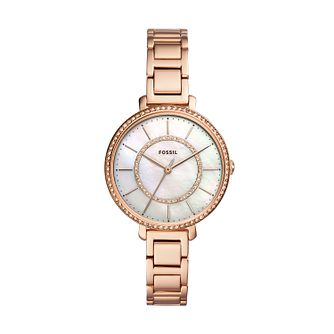 Fossil Jocelyn Ladies' Rose Gold Tone Bracelet Watch - Product number 2339196