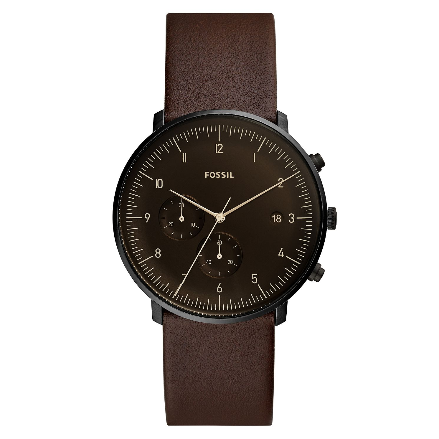 Fossil Chase Timer Men's Brown Leather Strap Watch - Product number 2339382