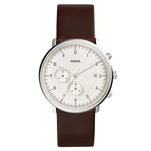Fossil Chase Timer Men's Brown Leather Strap Watch - Product number 2339390