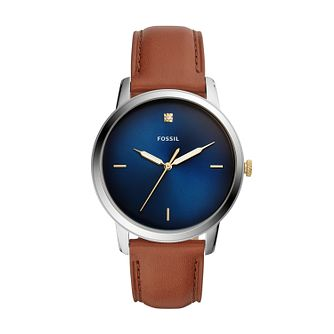 Fossil The Minimalist 3H Men's Brown Leather Strap Watch - Product number 2339552