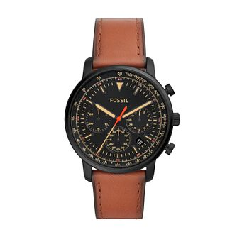 Fossil Goodwin Men's Brown Leather Strap Watch - Product number 2339579