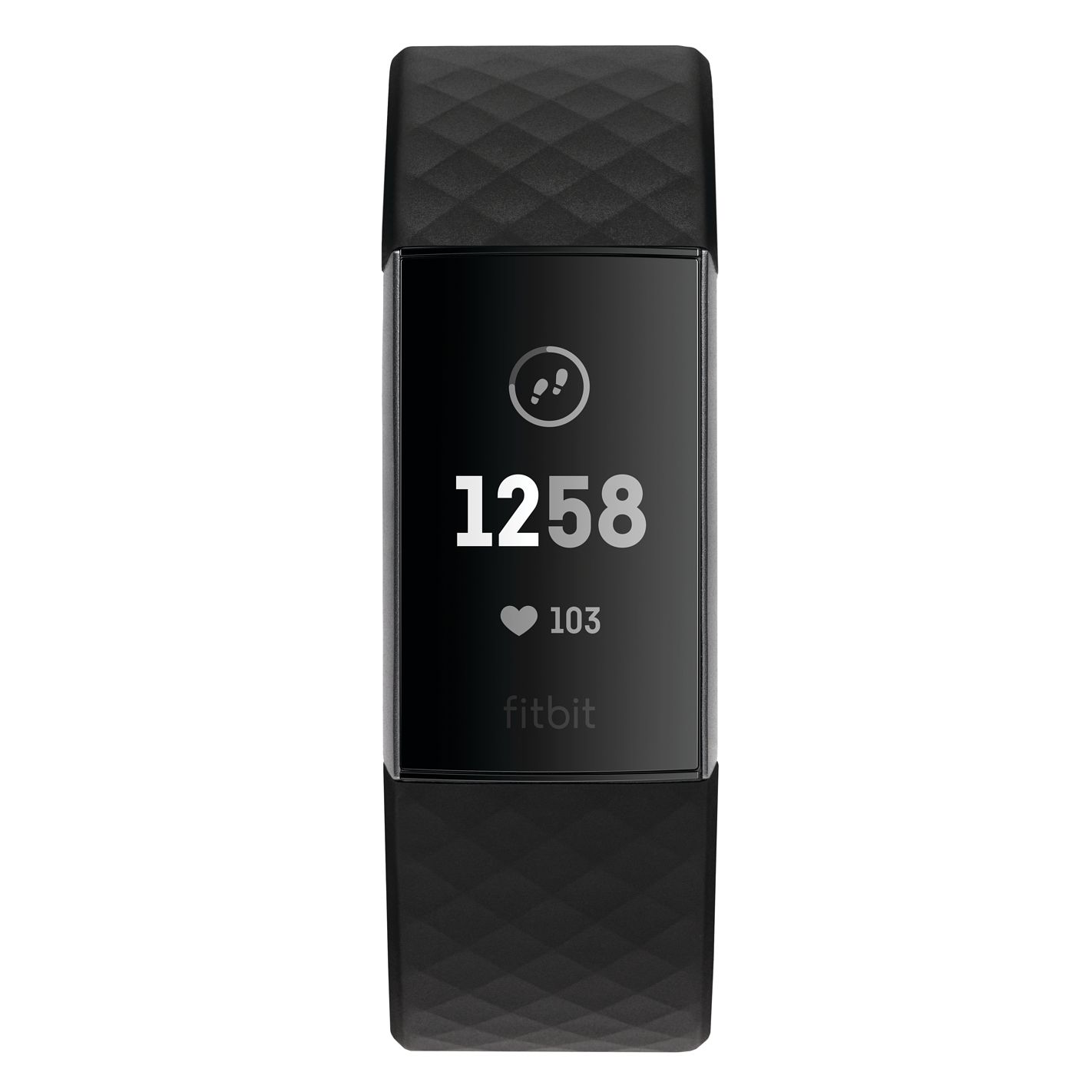 Fitbit Charge 3 Black Strap Fitness Tracker 208503 | H Samuel