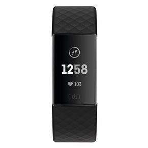 Fitbit Charge 3 Black Elastomer Strap Watch - Product number 2339587