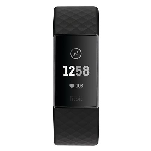 Fitbit Charge 3 Black Strap Fitness Tracker - Product number 2339587