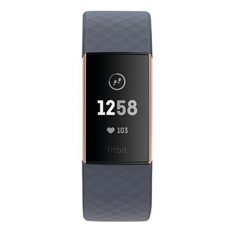 Fitbit Charge 3 Grey Elastomer Strap Watch - Product number 2339595