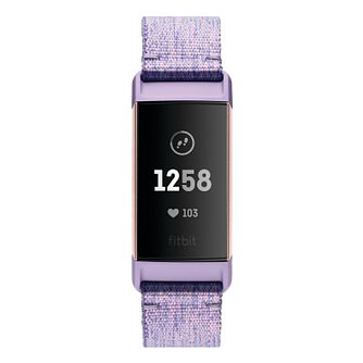 Fitbit Charge 3 Lilac Fabric Strap Fitness Tracker - Product number 2339617