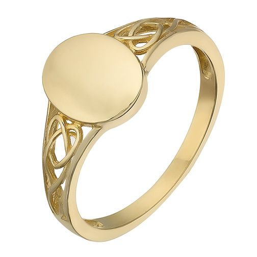9ct Yellow Gold Oval Signet Ring - Product number 2340887