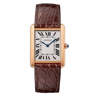 Cartier Tank 18ct Pink Gold Leather Strap Watch - Product number 2342871