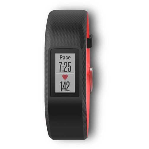 Garmin Vívosport Black/Red Silicone Strap Watch - Size S/M - Product number 2346567