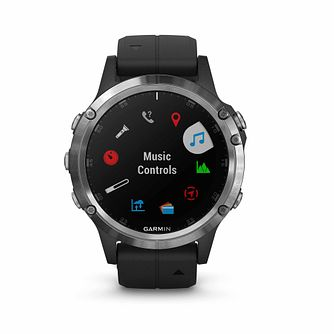 Garmin Fenix 5 Plus Black Silicone Strap Watch - Product number 2346575