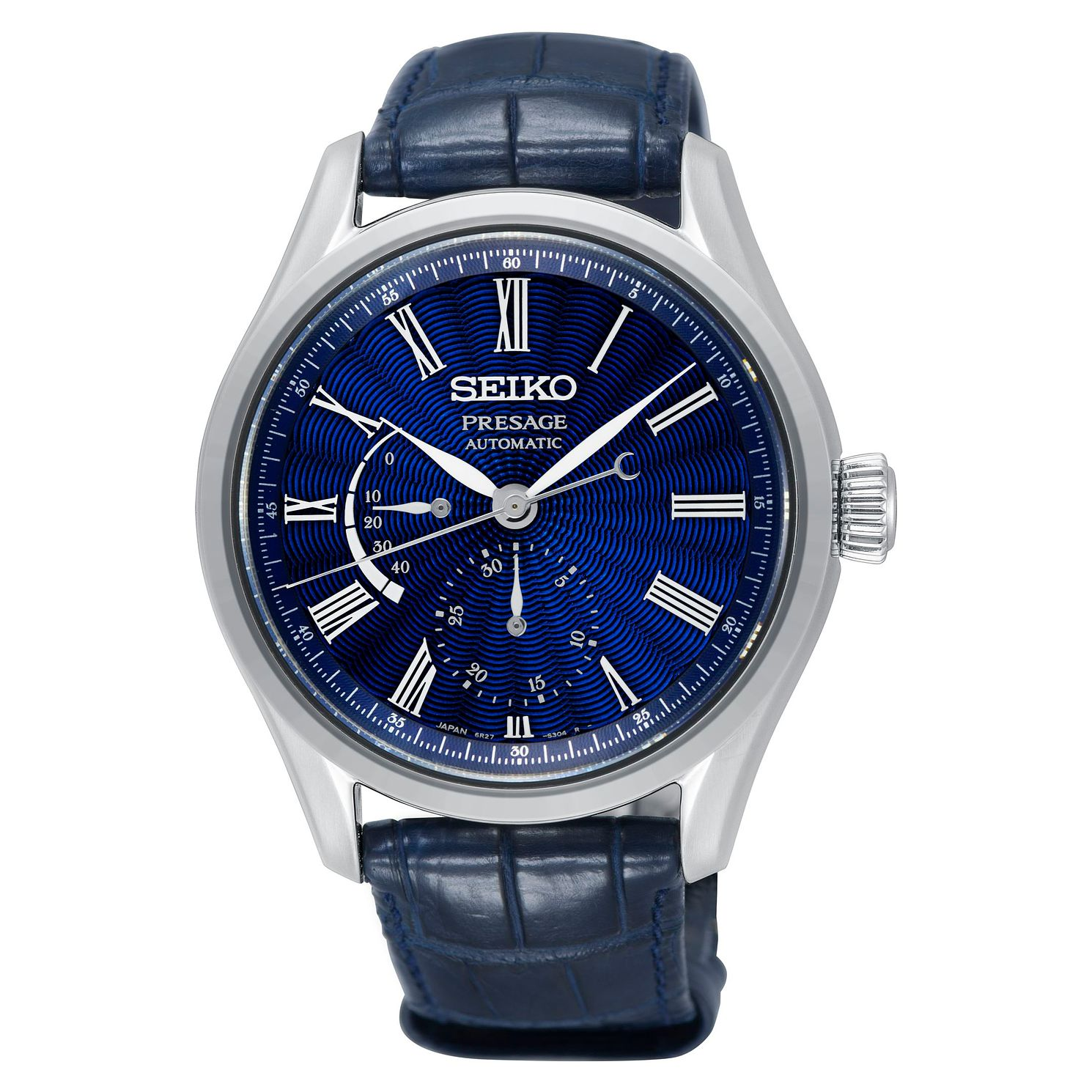 Seiko Presage Men's Blue Leather Strap Watch - Product number 2346664