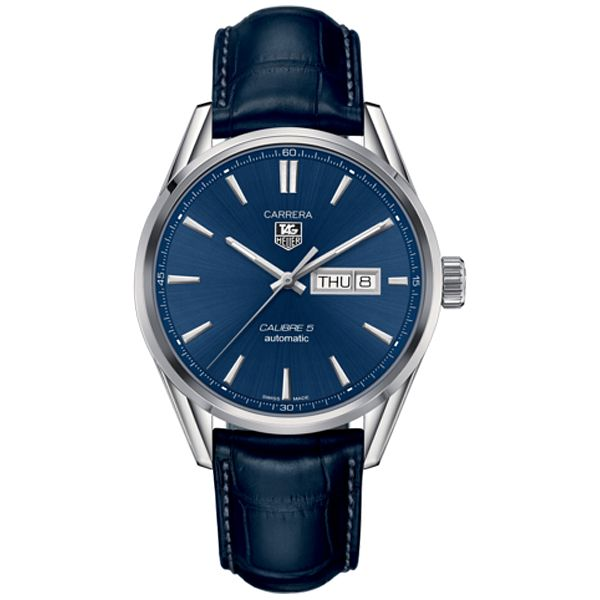TAG Heuer Carrera 5 Men's Blue Leatherwatch - Product number 2346931