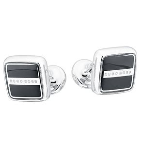 BOSS Robert Men's Black Brass Cufflinks - Product number 2349132