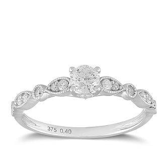 9ct White Gold 2/5ct Diamond Ring - Product number 2355353