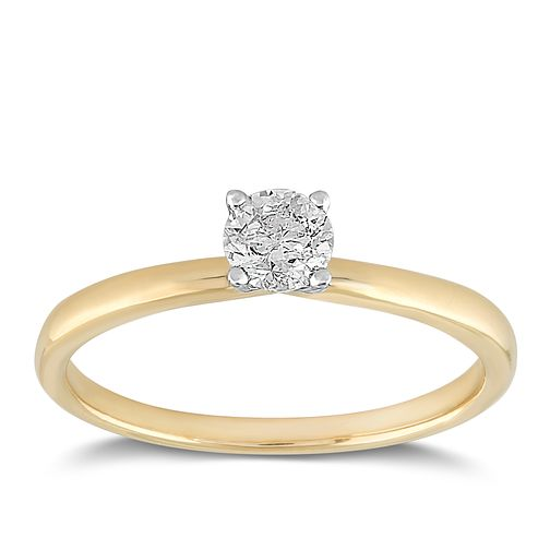 18ct Yellow Gold 1/3ct Claw Set Solitaire Diamond Ring - Product number 2356805
