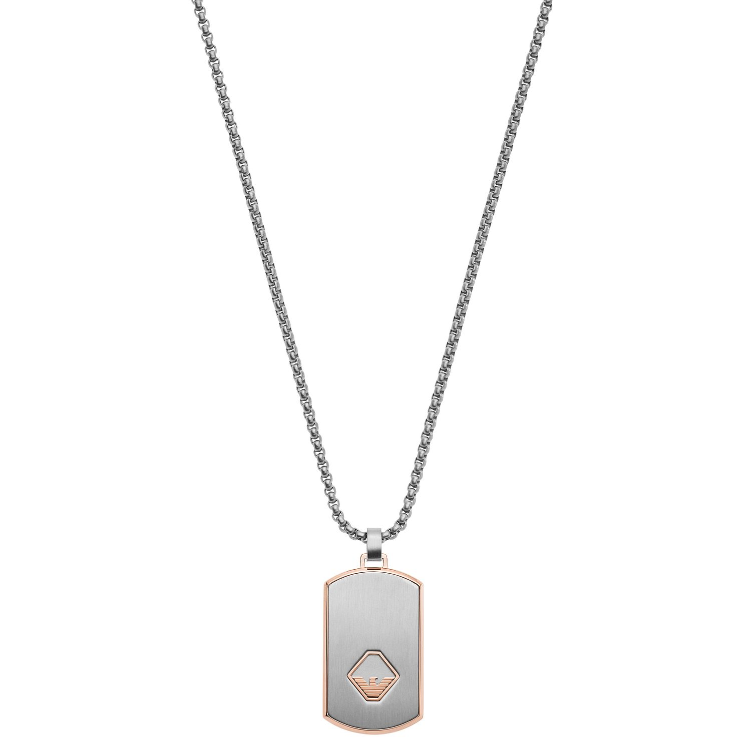 Emporio Armani Men's Stainless Steel Dogtag Necklace - Product number 2358336