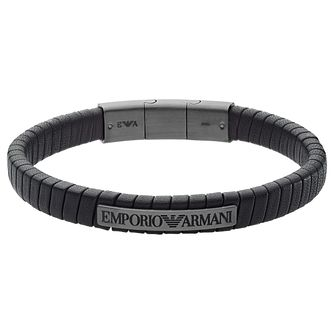 Emporio Armani Men's Stainless Steel & Leather Bracelet - Product number 2358379
