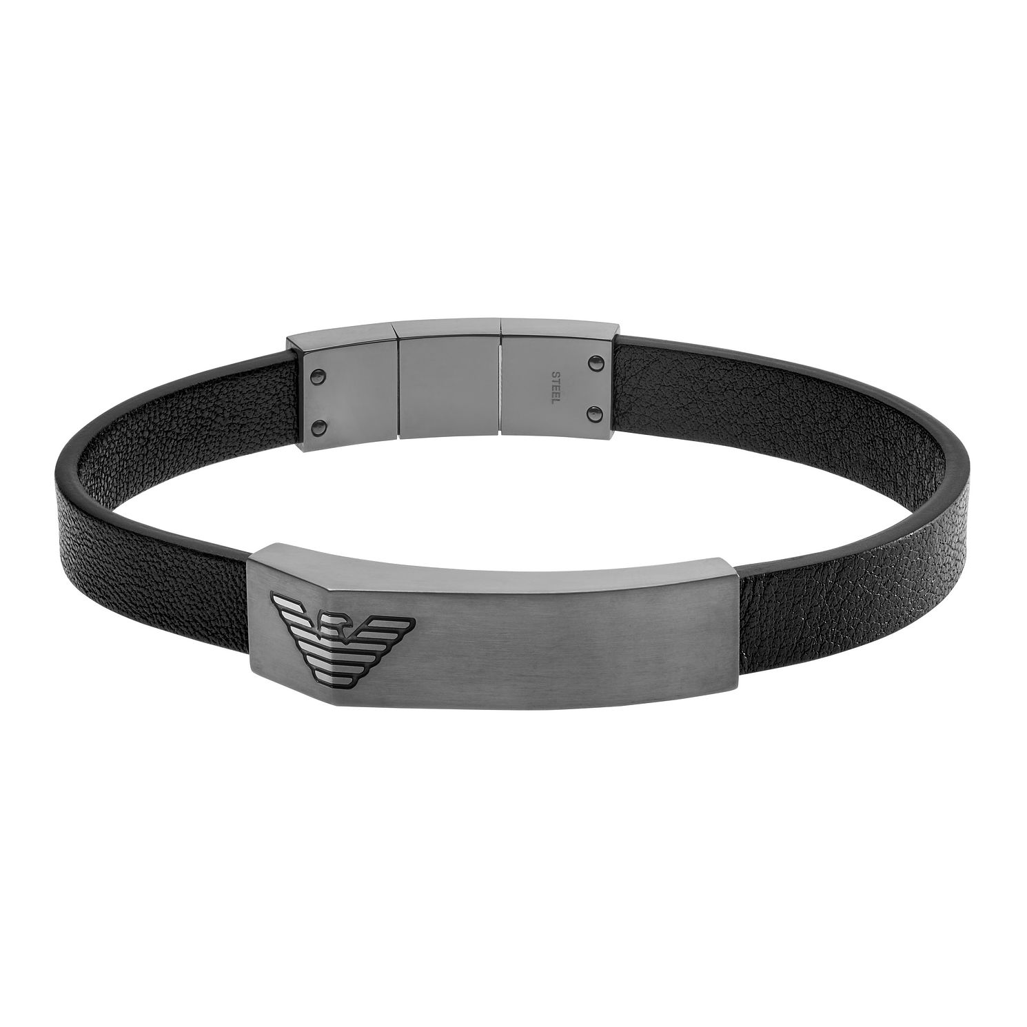 Emporio Armani Men's Black Leather Bracelet - Product number 2358395