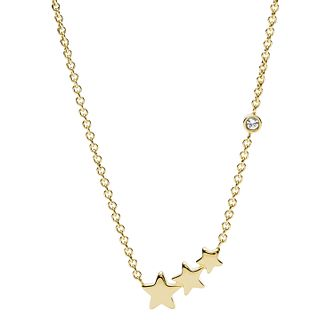 Fossil Vintage Motifs Ladies' Yellow Gold Tone Star Necklace - Product number 2358654