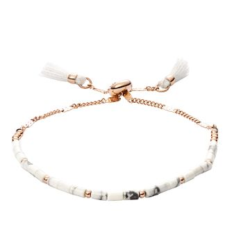 Fossil Ladies' Howlite Wellness Bracelet - Product number 2358719
