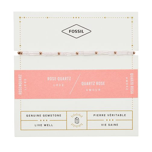 Fossil Ladies' Rose Quartz Wellness Bracelet - Product number 2358727