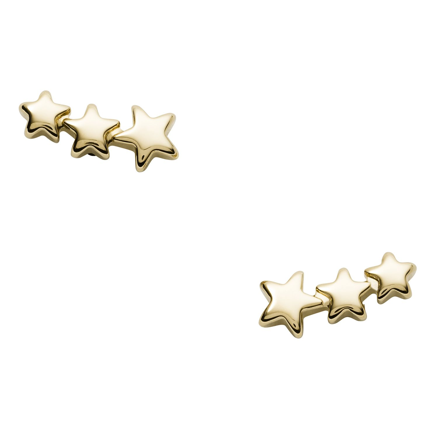 Fossil Vintage Motifs Ladies' Yellow Gold Tone Star Earrings - Product number 2358840