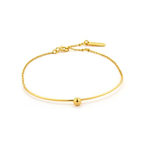 Ania Haie 14ct Yellow Gold Plated Solid Bar Bracelet - Product number 2363216