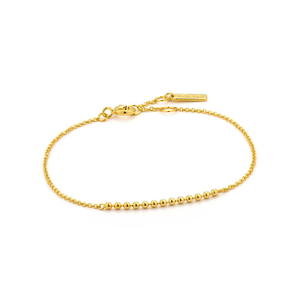 Ania Haie 14ct Yellow Gold Plated Modern Balls Bracelet - Product number 2363232