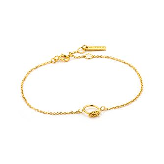 Ania Haie 14ct Yellow Gold Plated Modern Circle Bracelet - Product number 2363240