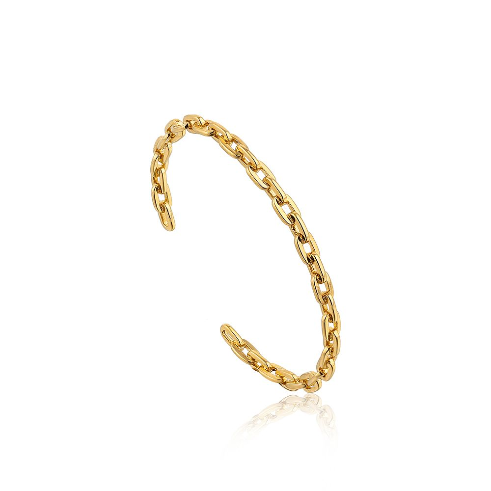Ania Haie 14ct Yellow Gold Plated Chain Cuff Bangle - Product number 2363305