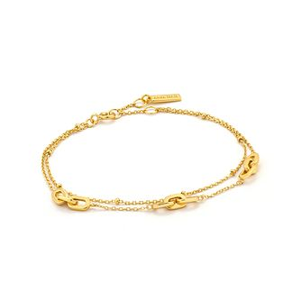 Ania Haie 14ct Yellow Gold Plated Links Double Bracelet - Product number 2363364