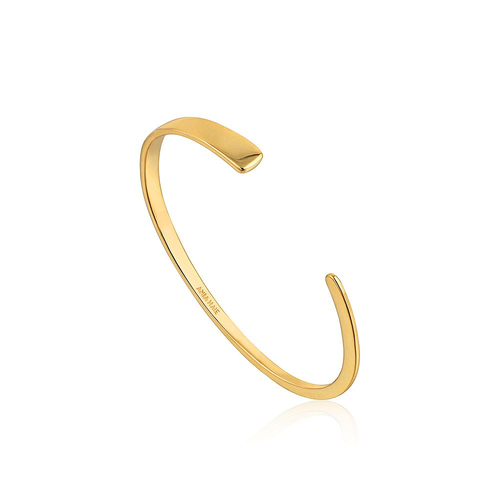Ania Haie 14ct Yellow Gold Plated Geometry Flat Cuff Bangle - Product number 2363372