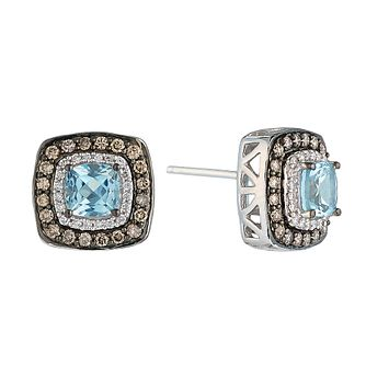 Le Vian 14ct Vanilla Gold aquamarine & diamond earrings - Product number 2364530