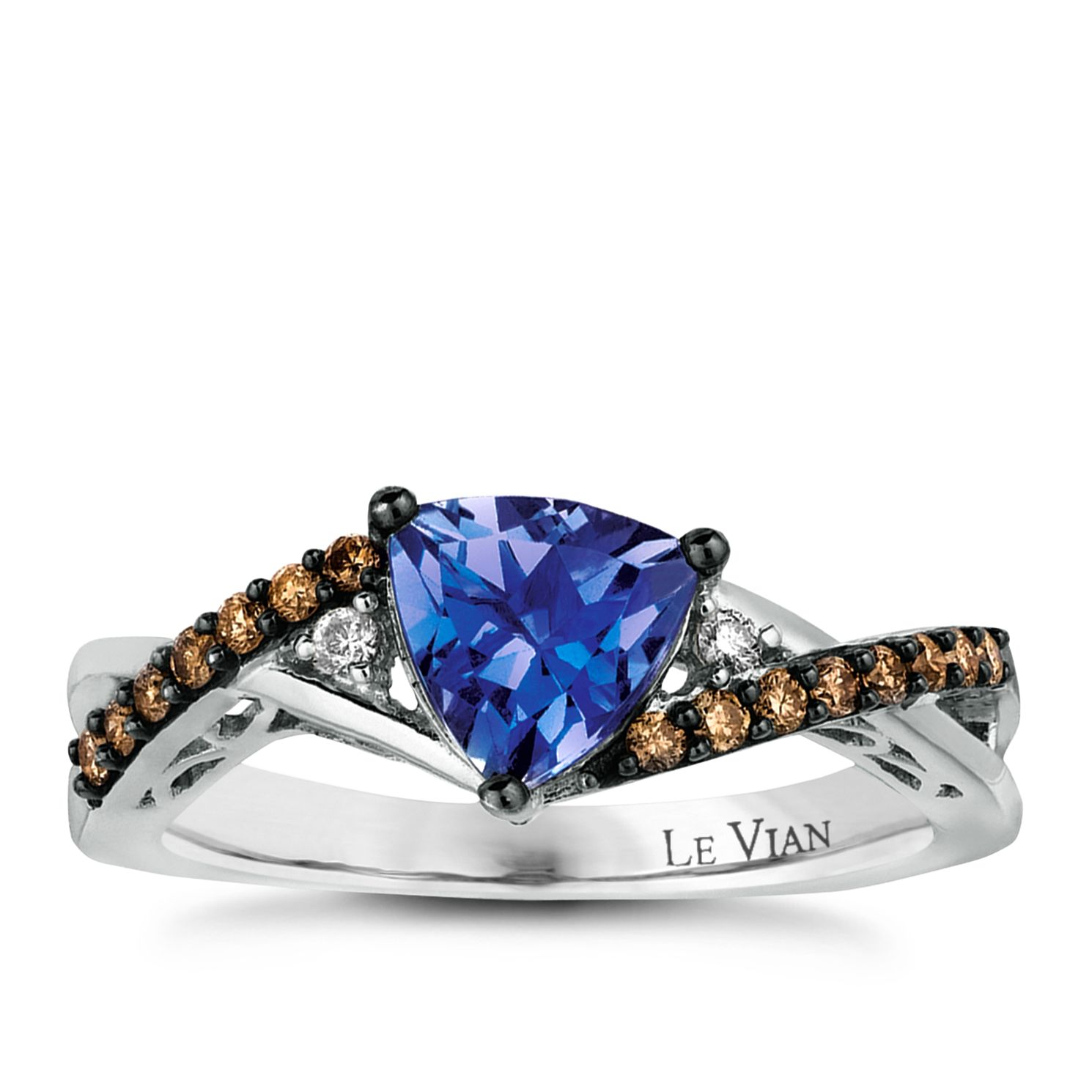 Le Vian 14ct Vanilla Gold Tanzanite & Diamond Ring - Product number 2365588