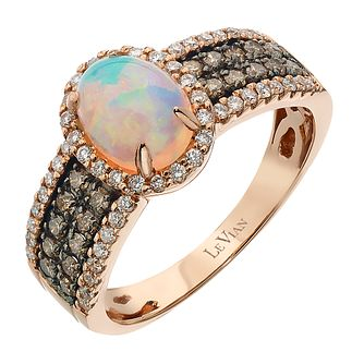 Le Vian 14ct Strawberry Gold Opal & 0.54ct Diamond Ring - Product number 2366584
