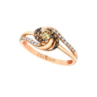 Strawberry Gold Chocolate & Vanilla Diamond Swirl Ring - Product number 2367696